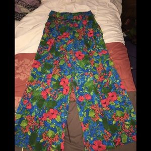 Multicolor Jungle Flowy pants Size M